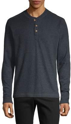 Vintage 1946 Long-Sleeve Cotton-Blend Henley