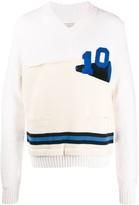 Maison Margiela double-knit number patch jumper