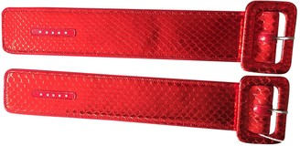 ATTICO Red Exotic leathers Bracelets