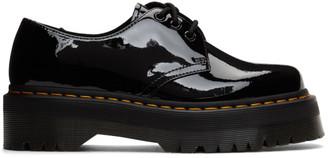 Dr. Martens Black Patent Lamper 1461 Quad Platform Derbys