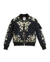 Givenchy Baby's Breath Print Puffer Bomber Jacket, Size 6-10