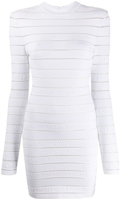 Balmain Textured Knitted Dress
