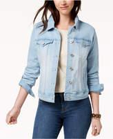 Style&Co. Style & Co Petite Mosaic Wash Denim Jacket, Created for Macy's