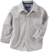 Osh Kosh Toddler Boy Pin Striped Button Down Shirt