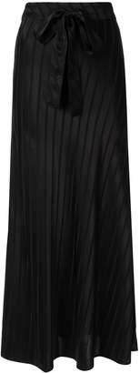 Lee Mathews tie waist straight skirt
