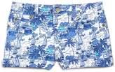 Vineyard Vines Girls' Bermuda Scene Print Denim Shorts