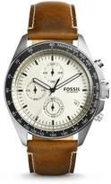 Fossil Sport 54 Chronograph Dark Brown Leather Watch