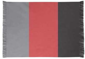 NHS National Hockey Stripes Red Area Rug East Urban Home Non-Skid Pad: No