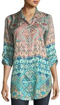 Johnny Was Paolomo Button-Front Silk Tunic