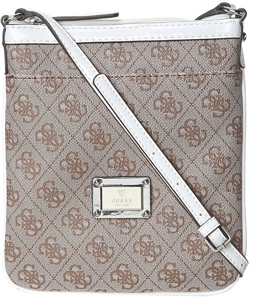 GUESS Skya Mini Crossbody Top Zip (White) - Bags and Luggage
