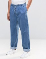 Asos Highwaisted Jeans With Drawstring Waist