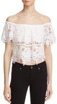 Free People Sweet Dreams Lace Off-the-Shoulder Crop Top