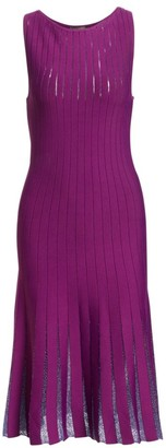 Zac Posen Beaded Detail Sleeveless Knit Dress