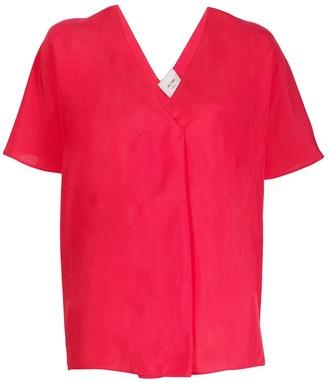 Alysi Short-Sleeved Silk Blouse