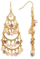 Carolee Beaded Chandelier Earrings