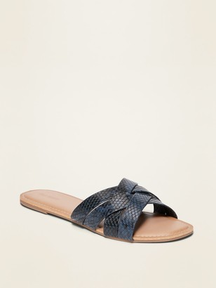 Old Navy Faux-Leather Cross-Strap Sandals for Women