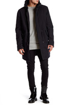 Helmut Lang Faux Shearling Longline Army Parka