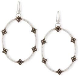Armenta New World Open Oval Diamond Earrings