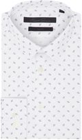 Kenneth Cole Denver Slim Fit Print Shirt With French Placket