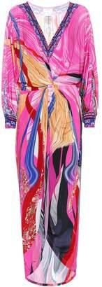 Camilla Printed stretch-jersey midi dress
