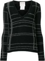 Stephan Schneider striped V-neck sweater