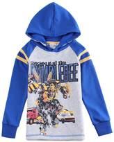 Tiful Transformers Little Boys Spring Fall Long Sleeve Cartoon Soft Printing Alphabet Hooded Athletic Cotton Sweatshirt Jacket