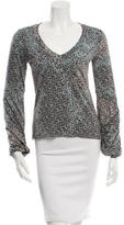 Piazza Sempione Blouson Sleeve Printed Top