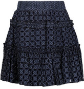 Alexis Antonia Ruffled Polka-Dot Broderie Anglaise Twill Mini Skirt
