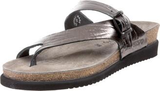 Mephisto Women's Helen Sandals Grey Etna Metallic Leather 39 (US Women's 9)
