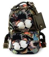 Valentino Garavani Leather-Trim Butterfly Backpack