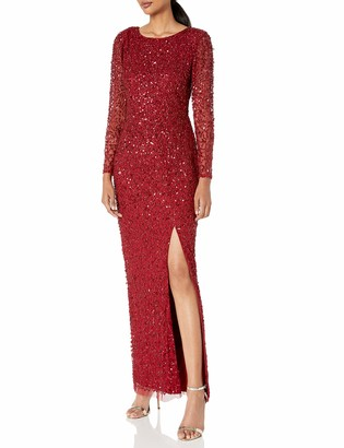 Adrianna Papell Women's Beaded Covered Column Gown