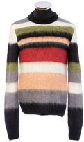 Saint Laurent Crewneck Sweater In Multicolor Striped