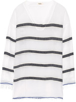 Lemlem Bethany striped cotton-blend gauze tunic