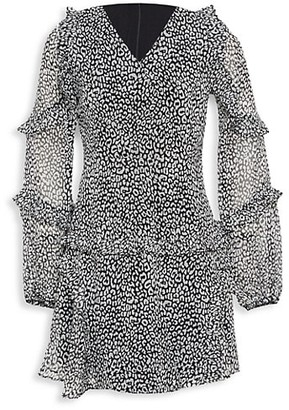 Bardot Junior Girl's Mimi Leopard A-Line Dress