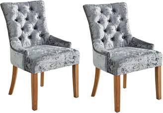 Argos Home Cherwell Pair of Velvet Chairs