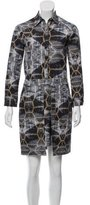 Cynthia Rowley Printed Knee-Length Dress