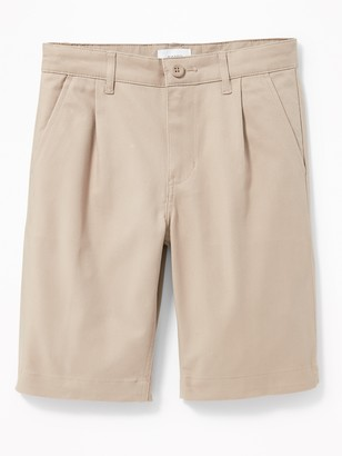 Old Navy Pleated Built-In Flex Straight Uniform Shorts for Boys