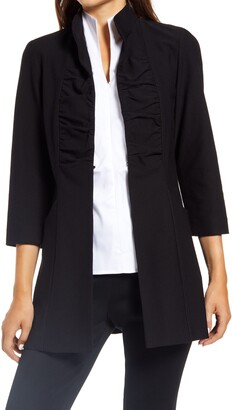 Ming Wang Stand Collar Jacket