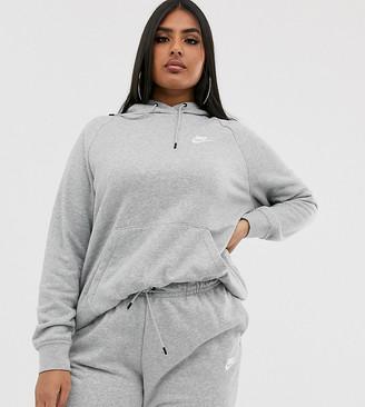Nike plus grey essentials hoodie