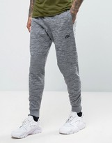 Nike Tech Knit Joggers In Tapered Fit In Grey 832180-091