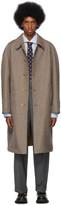 Gucci Reversible Orange and White 70s Pied De Poule Coat