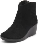 Crocs Leigh Suede Wedge Bootie Black