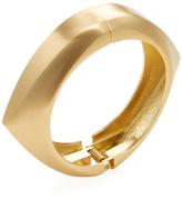 Kenneth Jay Lane Satin Odd Shape Hinged Bangle Bracelet