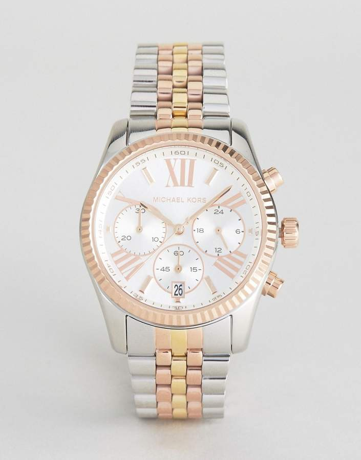 Michael Kors MK5735 Lexington bracelet watch in mixed metal