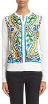 Dolce & Gabbana Women's Silk Foulard Print Cardigan