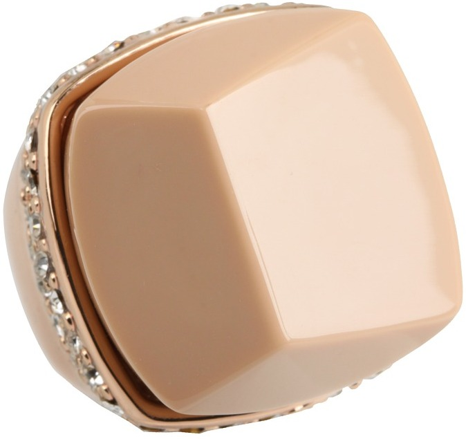 Vince Camuto Dome Color Rings (Beige/Rose Gold) - Jewelry