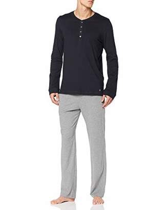 Marc O'Polo Body & Beach Men's M-LOUNGESET LS Crew-Neck Pyjama Sets, (Midnight Blue 804), (Pack of 2