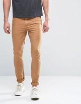 Asos Super Skinny Jeans In Tan