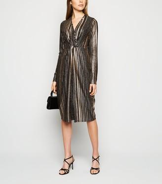 New Look Blue Vanilla lic Stripe Midi Dress