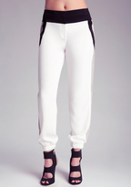 Bebe Python Contrast Track Pant